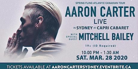 Aaron Carter's Spring Fling Atlantic Canadian Tour - Cape Breton - POSTPONED! tickets