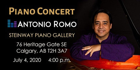 Piano Concert at Steinway Gallery Calgary | Antonio Romo tickets