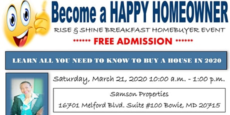 Become a Happy Homeowner - Rise & Shine Breakfast Homebuying Event  tickets