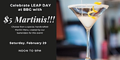 Celebrate Leap Day with $5 Martinis