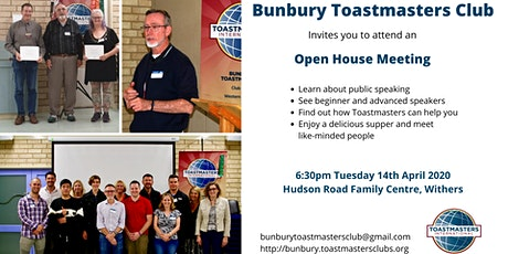 Bunbury Toastmasters Club Open House Meeting tickets