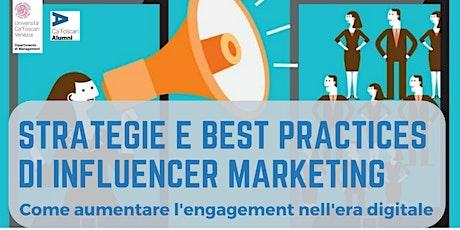 Strategie e best practices di influencer marketing biglietti
