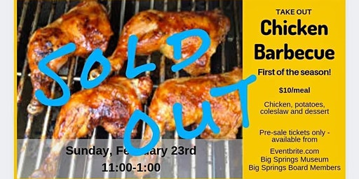 SOLD OUT Chicken Barbecue