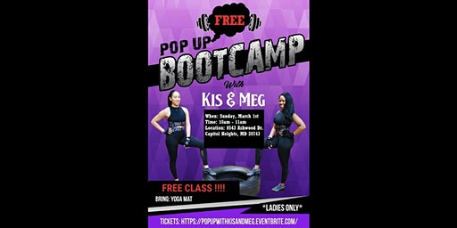 FREE POPUP Bootcamp with Kis & Meg