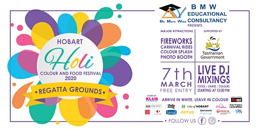 BMW Education Presents Hobart Holi Colour and Food Festival 2020