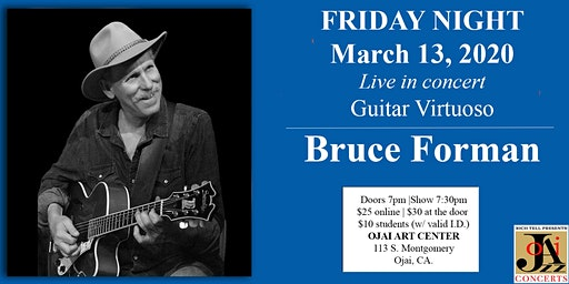 Ojai Jazz Concerts presents Bruce Forman - Guitar Virtuoso