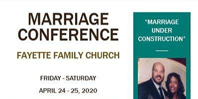 Marriage Conference April 24-25, 2020