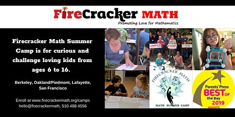 Firecracker Math Summer Camp Open House tickets