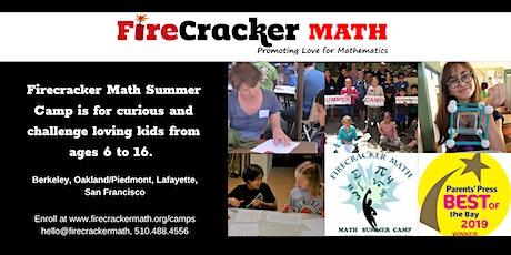 Firecracker Math Summer Camp Open House tickets