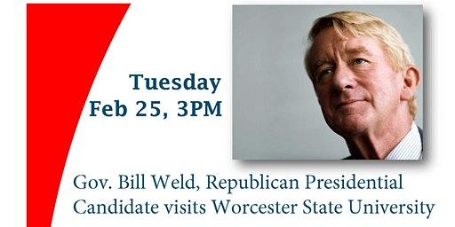 Political Discussion with Gov. Bill Weld, Republican Presidential Candidate