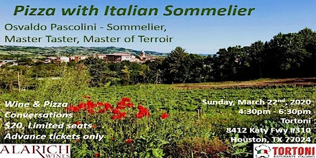 Pizza with Italian Sommelier tickets