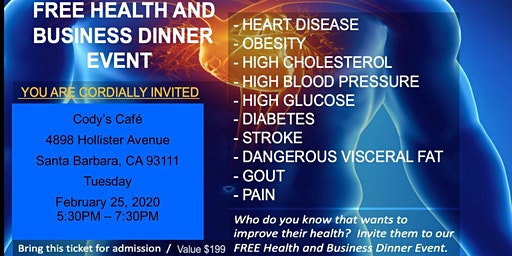 Health and Wellness Dinner Event