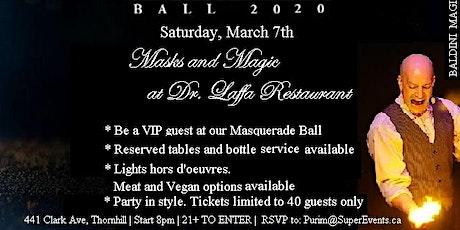 Masks & Magic Purim Gala at Dr. Laffa tickets