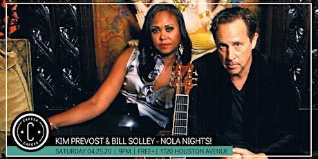 Cafeza Presents - Nola Nights! Featuring Kim Prevost & Bill Solley tickets