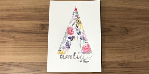 E-Z letters: A watercolour lettering workshop for beginners