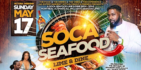 SOCA SEAFOD LIME & DINE - Montreal Drinks & Food Inclusive Lime tickets