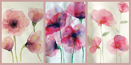 Precious Poppies: A watercolour class for beginners tickets
