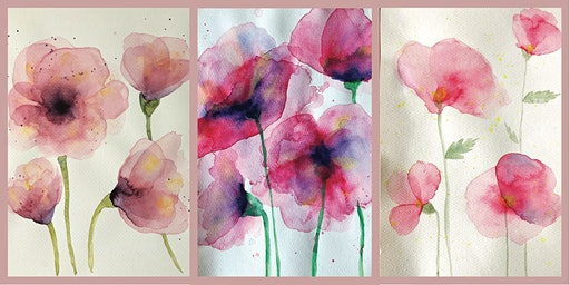 Precious Poppies: A watercolour class for beginners