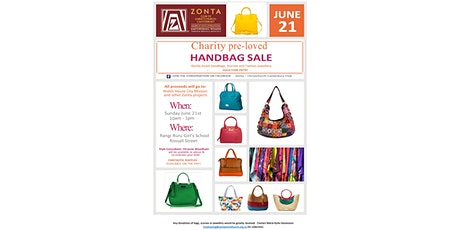 Charity pre-loved HANDBAG SALE tickets
