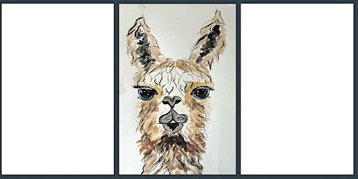 Luminous Llamas: A watercolour class for beginners