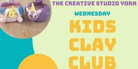 Kids Clay Club Wednesdays tickets