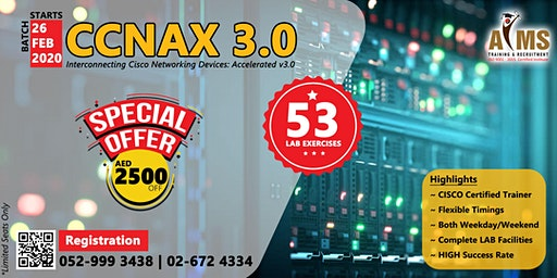 CCNAX V3.0 with 53 Lab Exercise @ AED 2500 off