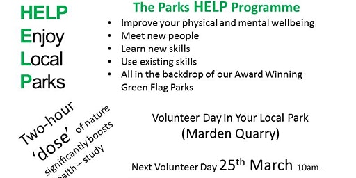 Volunteer day at Marden Quarry