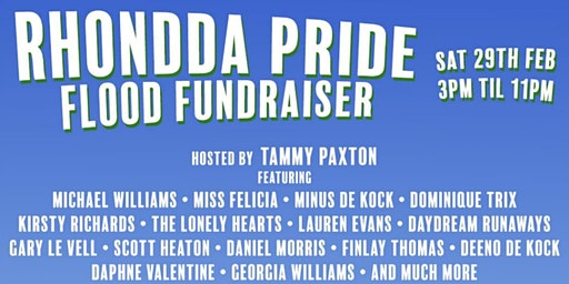Rhondda Pride Flood Fundraiser