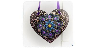 Hanging Heart Dotting Mandala Workshop- Make & Take