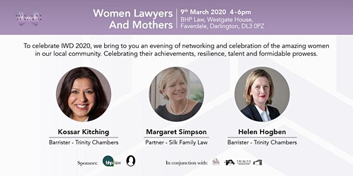 Women Lawyers and Mothers North East celebrates IWD 2020