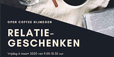Open Coffee Nijmegen thema Relatiegeschenken tickets