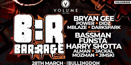 Volume #20 Invites Bar:rage PT3 tickets
