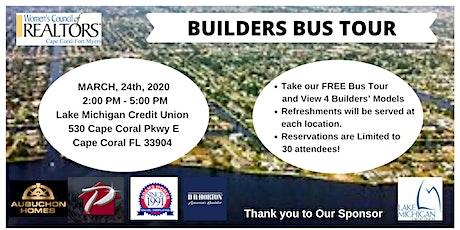 Women's Council of Realtors Cape Coral-Fort Myers Builder Bus Tour tickets