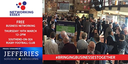 (FREE) Networking Essex Southend Thursday 19th March 12pm-2pm