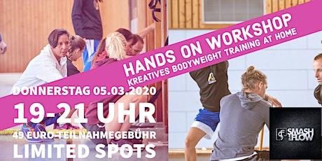 Hands On Workshop - Kreatives Bodyweight Training Für Zuhause Tickets