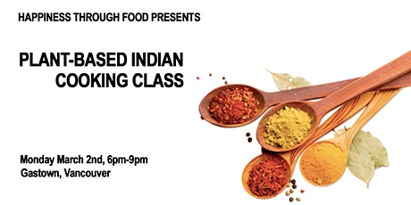Plant-Based Indian Cooking Class tickets