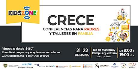 CRECE - Conferencias para Padres y Talleres en Familia entradas