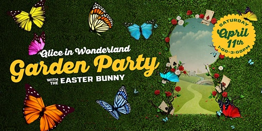 Alice in Wonderland Garden Party with the Easter Bunny
