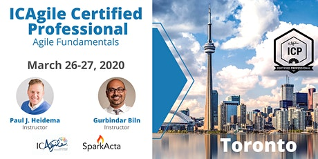 ICAgile Certified Professional (ICP) - Agile Fundamentals Training - March 2020 tickets
