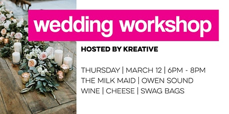 wedding workshop hosted by kreative tickets