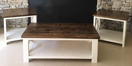 Build your own coffee table OR end table tickets