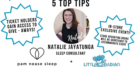 Natalie's Top 5 Tips To Get Your Baby To Sleep tickets
