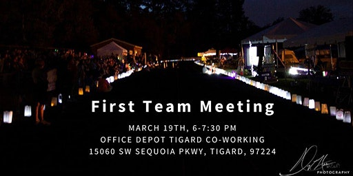 First Team Meeting 2020 Tigard/Tualatin Area Relay For Life