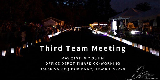 Third Team Meeting (May) Tigard/Tualatin Area Relay For Life 2020