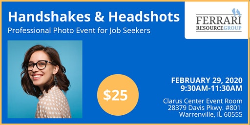 Handshakes & Headshots: Get your Professional Photo!