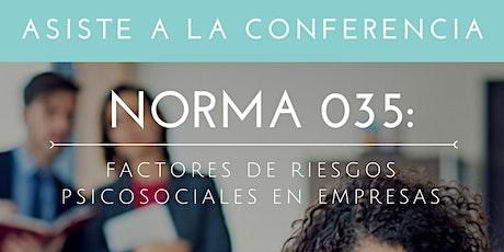 Conferencia N.035 Factores de Riesgos Psicosociales en Empresas boletos