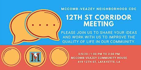 Twelfth St Corridor Meeting tickets