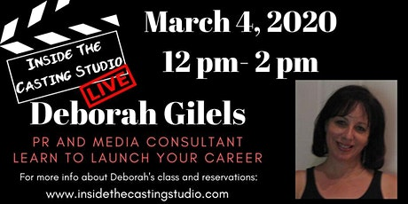 Inside the Casting Studio- Launch your career tickets