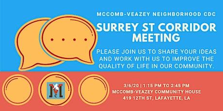 Surrey St Corridor Meeting tickets