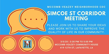 Simcoe Corridor Meeting tickets